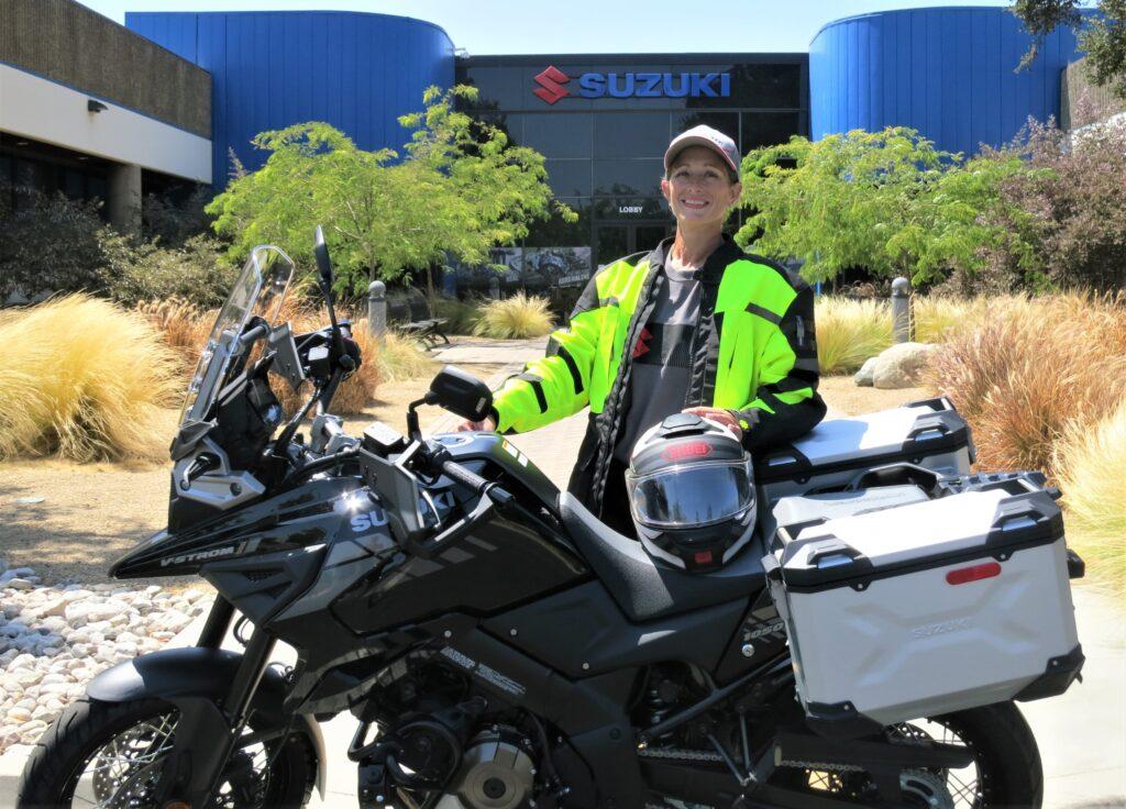 Wendy Crockett rides a Suzuki V-STROM 1050XT Adventure
